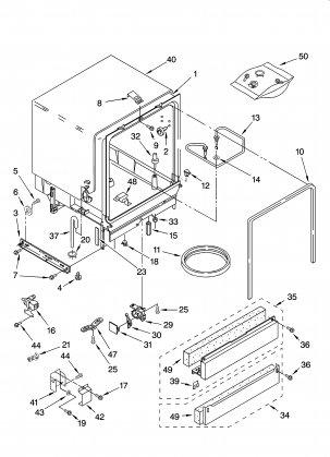 Dishwasher 665.1359 door latch