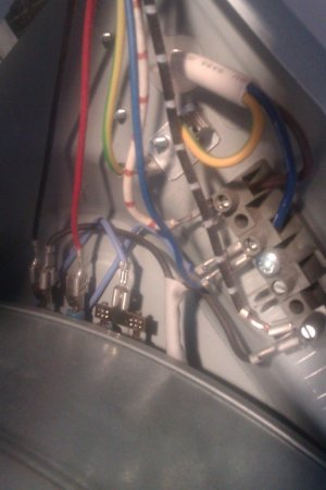 Tumble dryer wiring