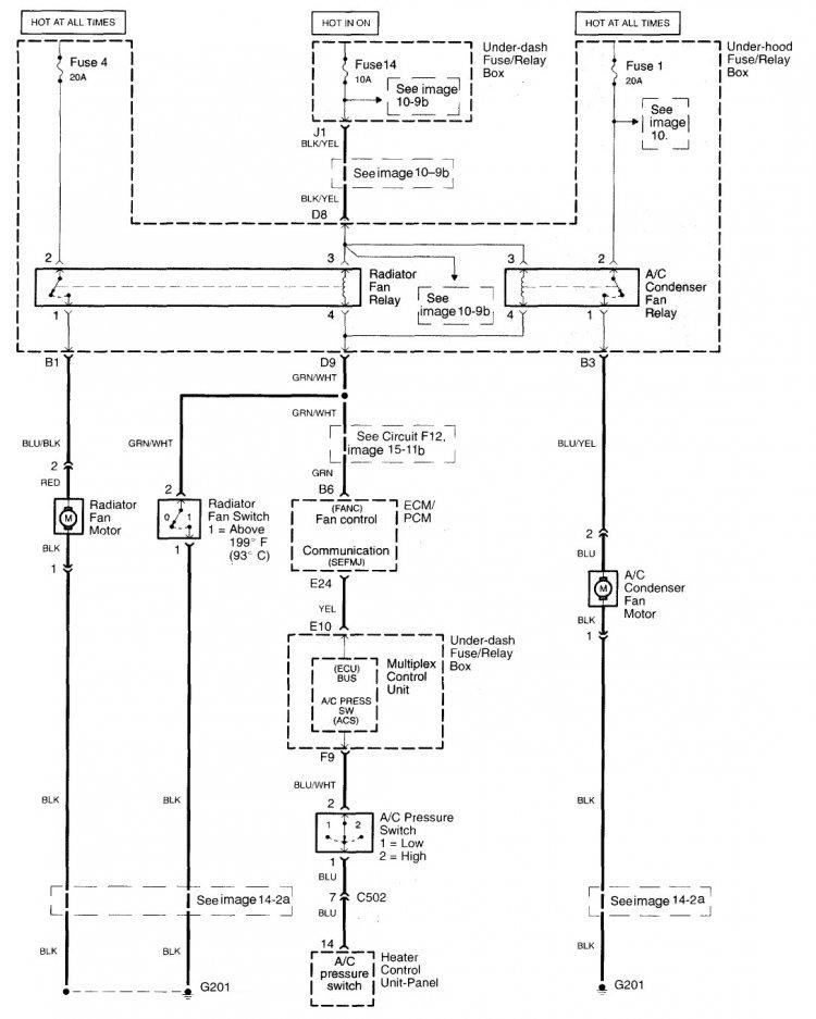 2003 honda crv ac wiring diagram emg 81 85 fan not running