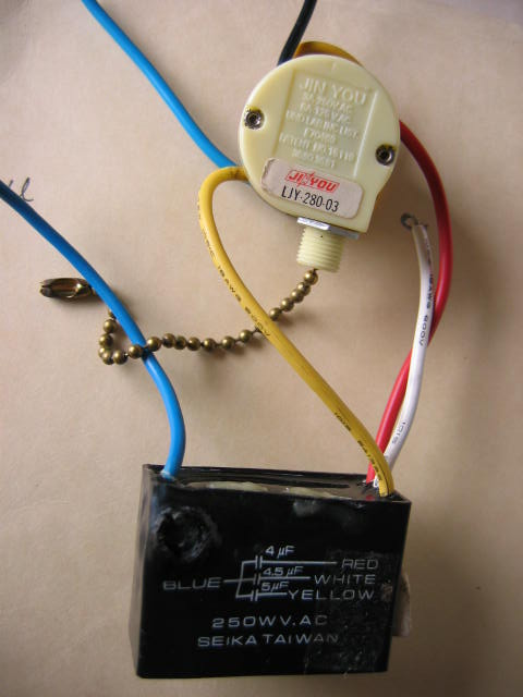 Hunter Ceiling Fan Speed Switch Wiring
