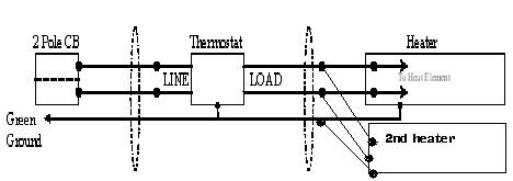 Wiring a thermostat to 2 base board heaters
