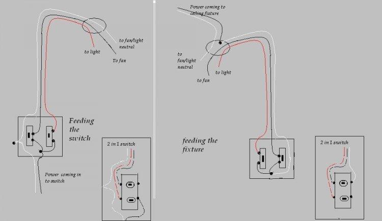 a bath fan light wiring diagrams