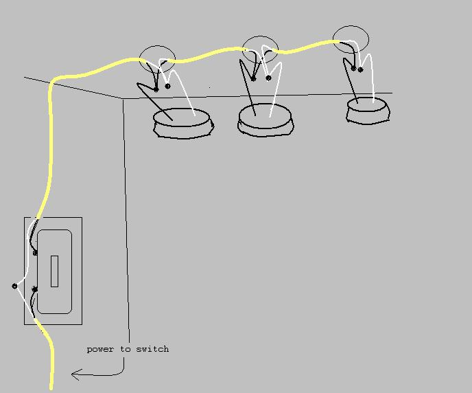 Wire multiple lights on one switch