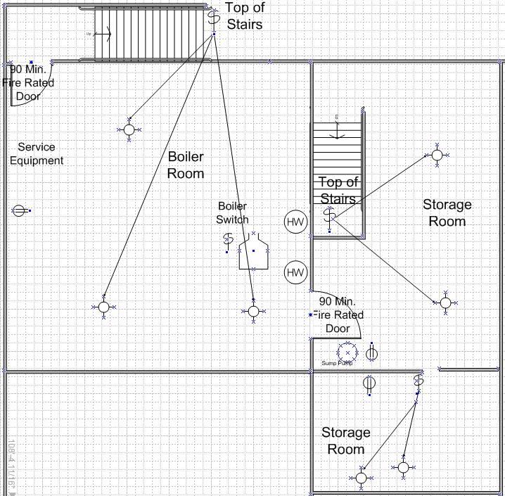 Retail Store Basement Electrical Plan
