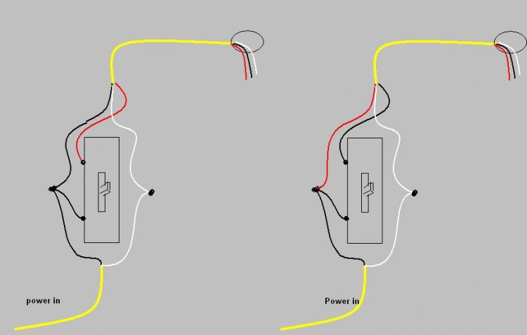 Diagram On Black White And Copper Wire To A Switch : 50