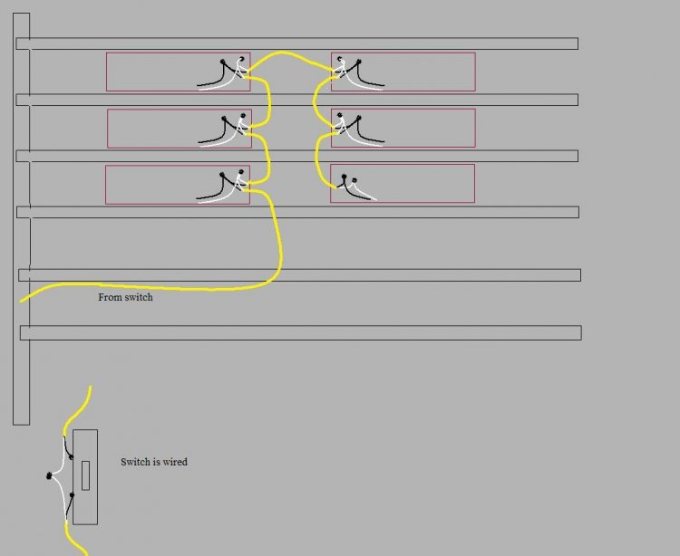 wiring fluorescent lights in series diagram www lightneasy net rh lightneasy net T8 Ballast Wiring Diagram Fluorescent Emergency Ballast Wiring Diagram