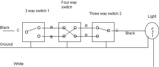 wiring a four way switch diagram