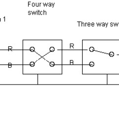 Two Way Intermediate Lighting Wiring Diagram One Dimmer Switch