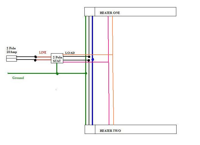 Wiring Diagram 240v Baseboard Heater Thermostat On Wiring Images