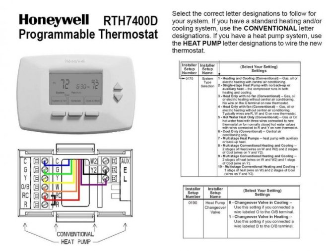 Honeywell Heat Pump Thermostat Wiring