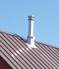 Metal Roof: Chimney Through Metal Roof