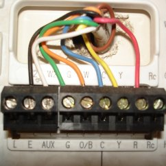 Honeywell Thermostat Wiring Diagram Rth3100c Hitachi 24v Alternator Colors From Old Do Not Match Directions On New One