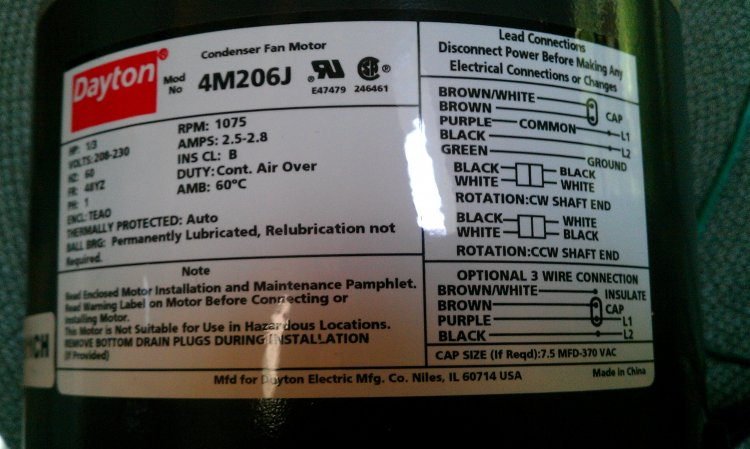 Dual Capacitor Wiring Diagram Lennox Hs29 048 1p Condenser Fan Motor Replacement