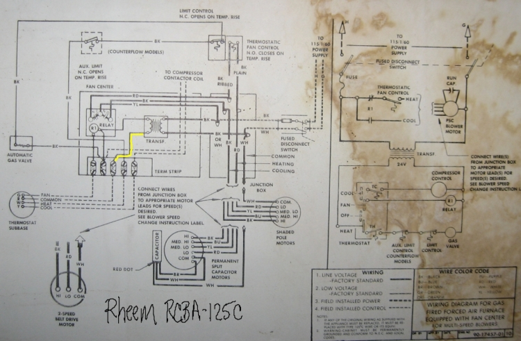 4321d1188844566 rheem rcb 125 blower shut off rheem schematic resized 750?resized665%2C4356ssld1 rheem wiring diagram air conditioner efcaviation com rheem air handler wiring schematic at readyjetset.co
