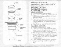 Shower Pan / No-Caulk Drain Installation Questions
