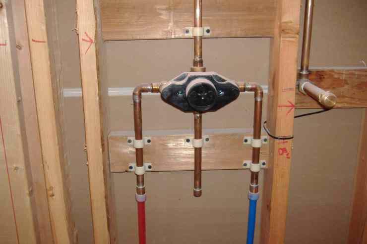 bathroom plumbing diagram concrete slab helvar electronic ballast wiring supporting shower mixing valve when using pex