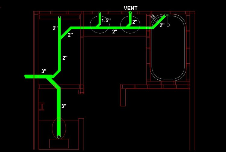 wet vent diagram answer the questions based on venn remodel, dwv layout question.
