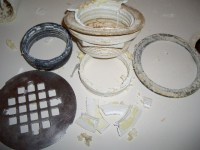 Fiberglass shower drain leak w/ PICS (wingtite?) - Page 2