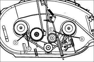 LT155 deck belt image