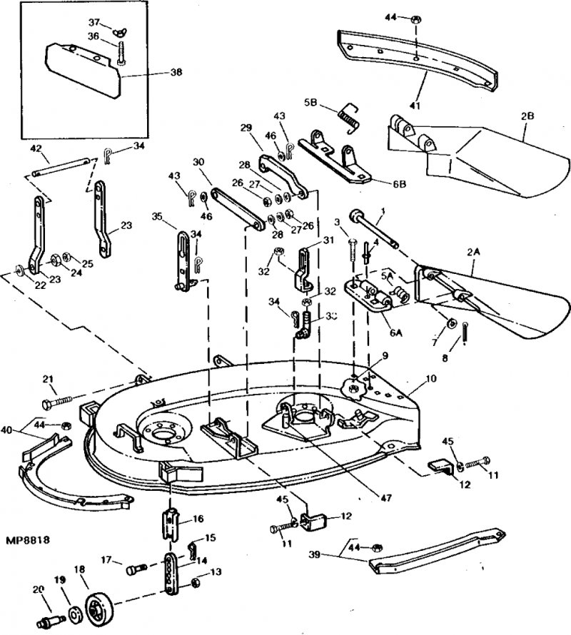 John Deere 111 Mower Deck Parts Diagrams, John, Free
