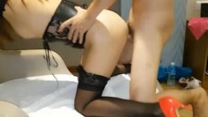 Chinese pantyhose girl