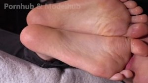 Sucking Friend's Stinky Feet Fresh Out Of Sneakers