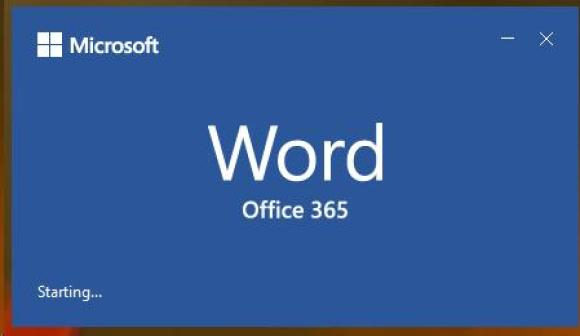 picture of the Microsoft Word opening screen