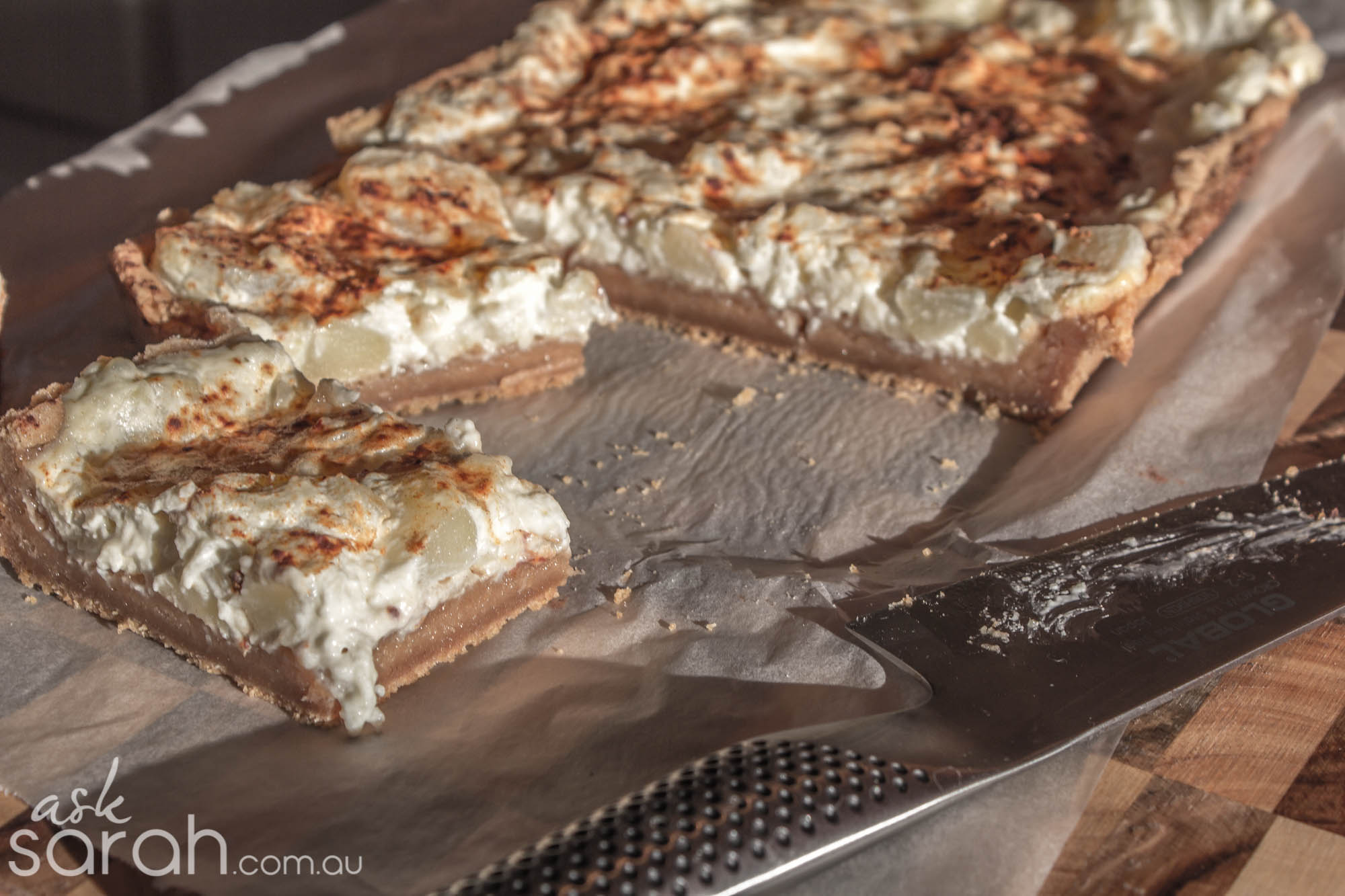 Apple Sour Cream Cake Mix Slice