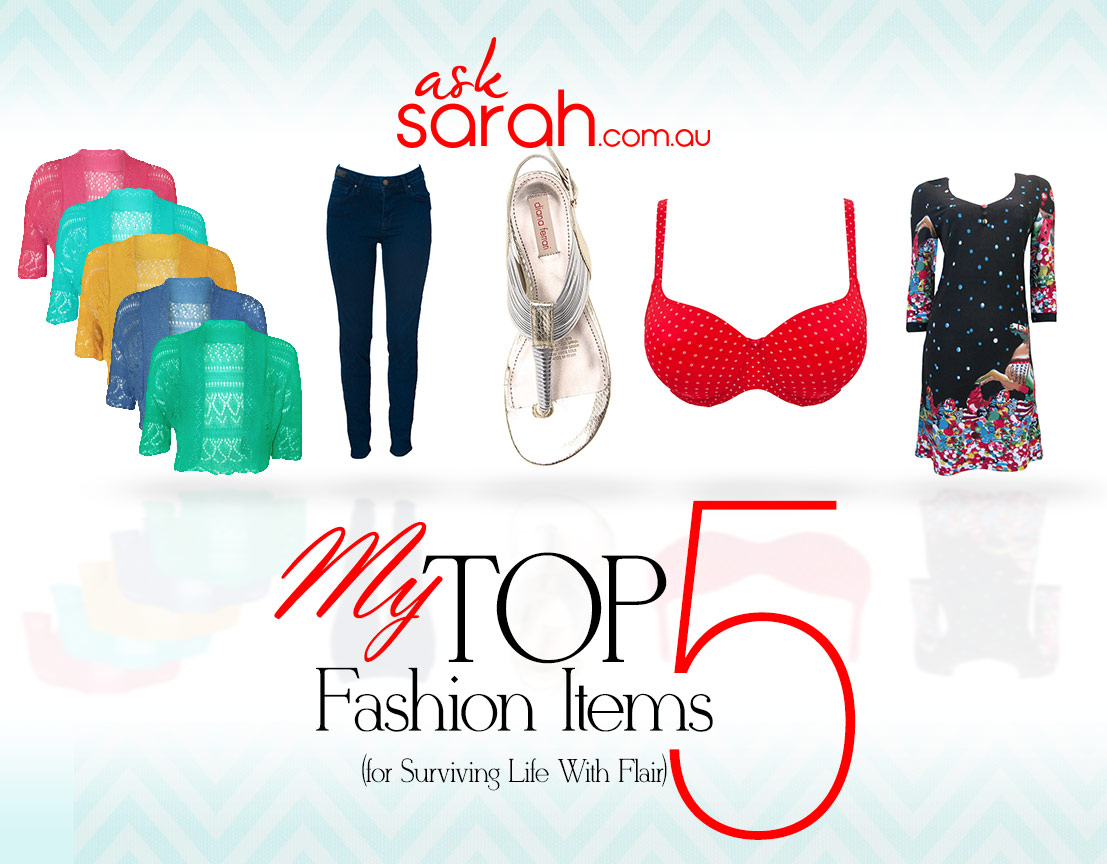 My Top 5 Fashion Items For Surviving Life With Flair! {My desert island picks}