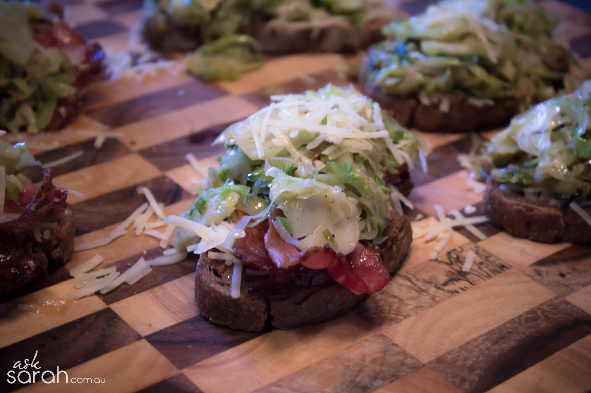 Recipe: Leek, Sprout & Bacon on Rye
