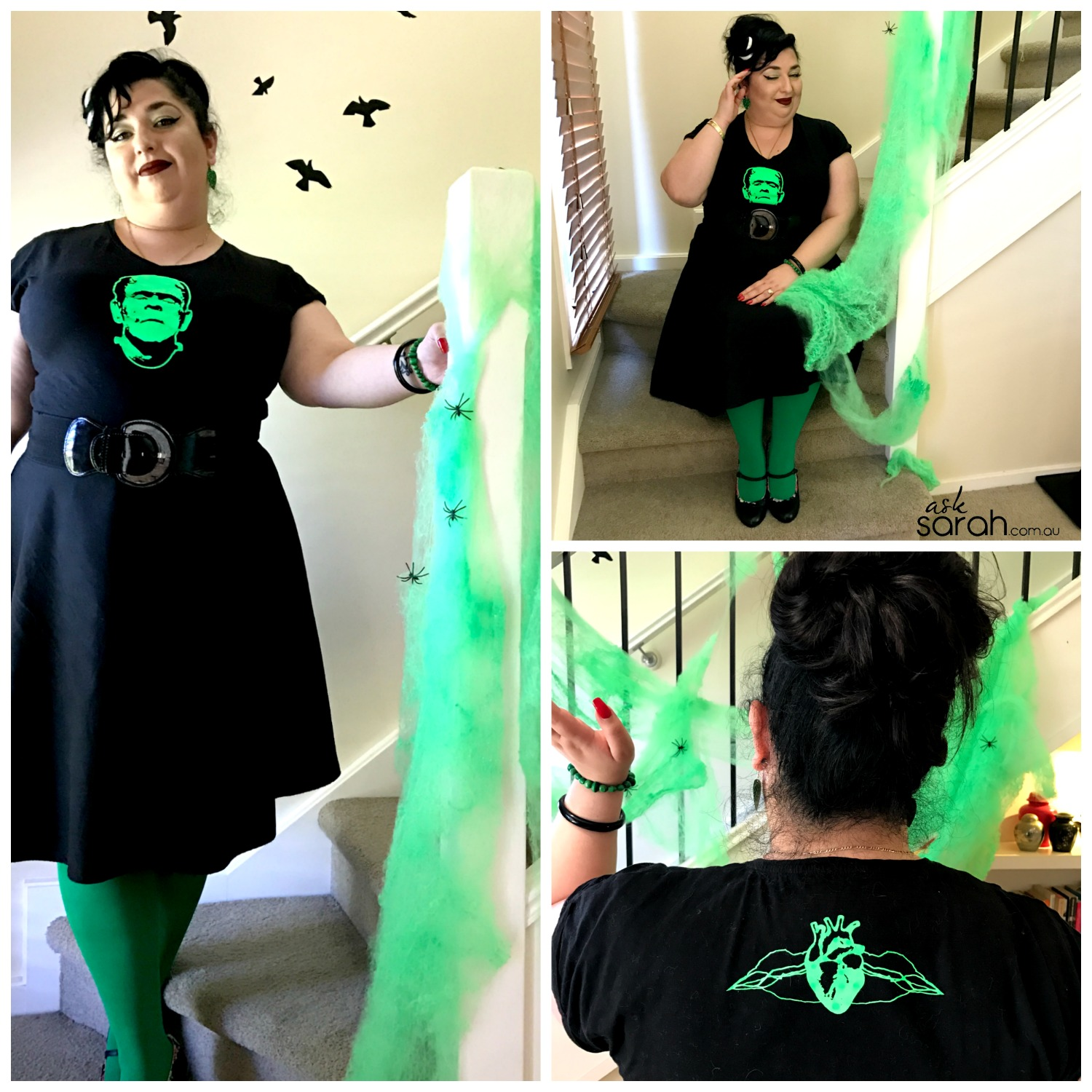 Halloween: Rockabilly Frankenstein Costume {DIY Heat Transfer Tee}