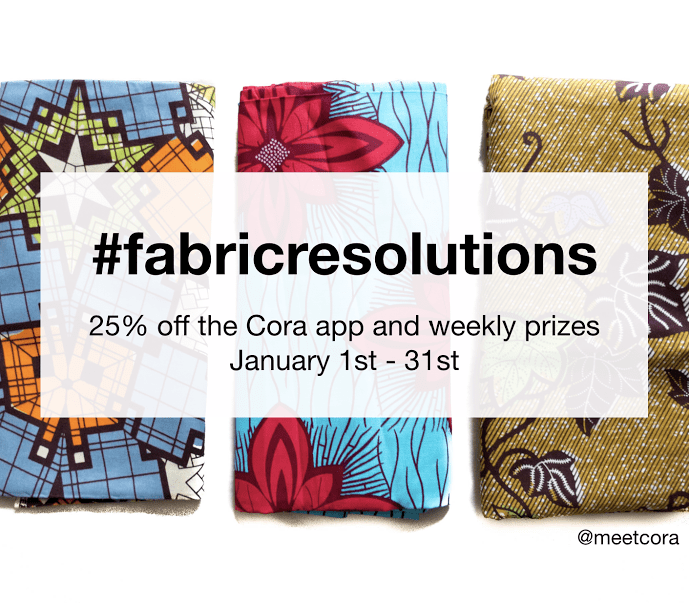 Sew: 2017 #fabricresolutions {WIN Weekly Prizes from Cora the Stash Management App}