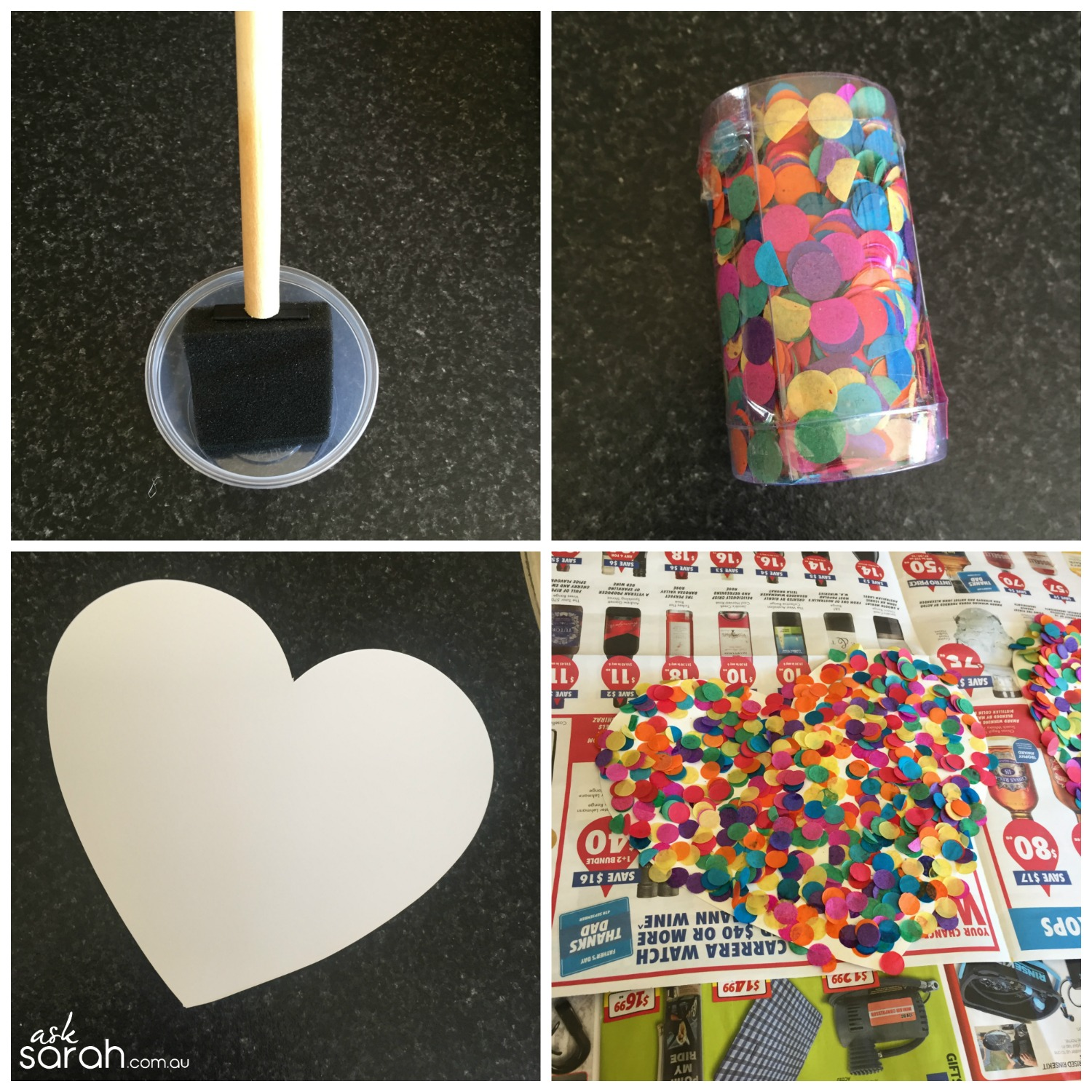 Make DIY Heart Shaped Pull Piñata Tutorial {Happy Valentines!} - Confetti