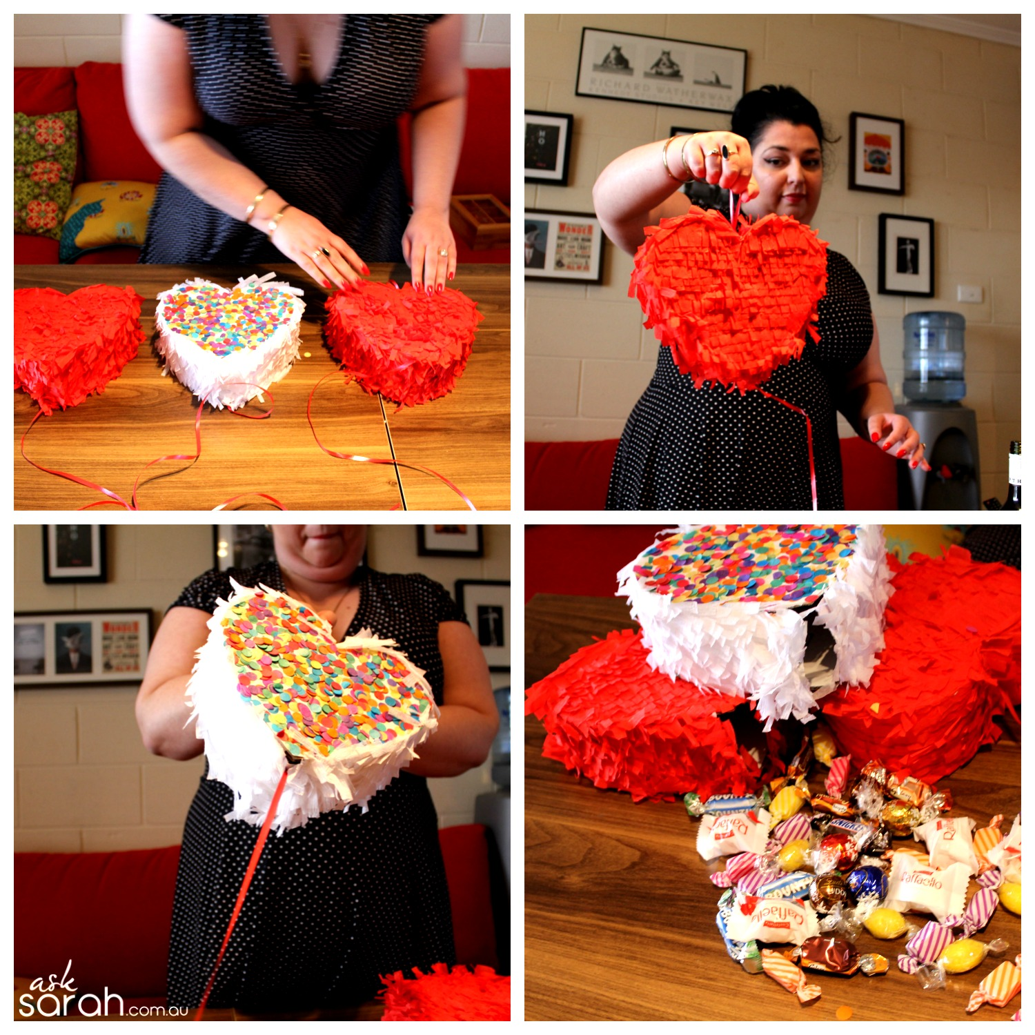 Make DIY Heart Shaped Pull Piñata Tutorial {Happy Valentines!} - Final
