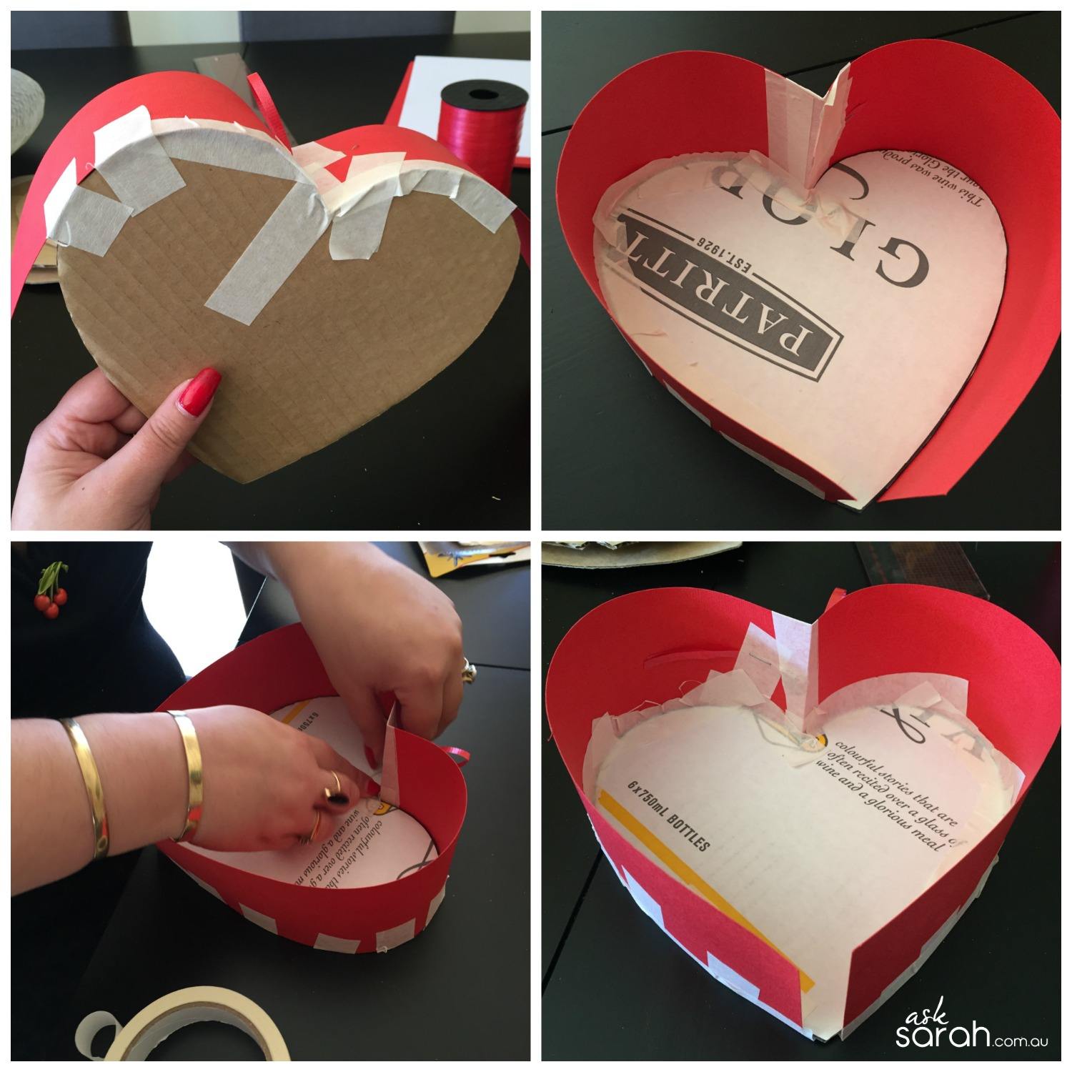 Make DIY Heart Shaped Pull Piñata Tutorial {Happy Valentines!} - Tape It