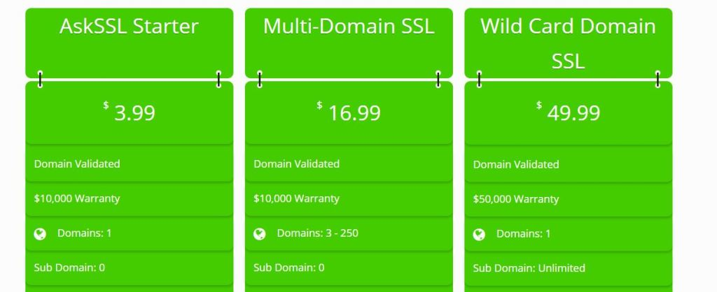 askssl prices