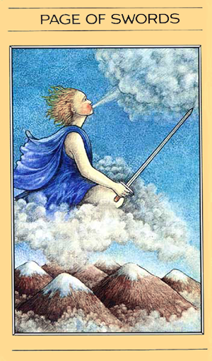 mythic tarot page of swords