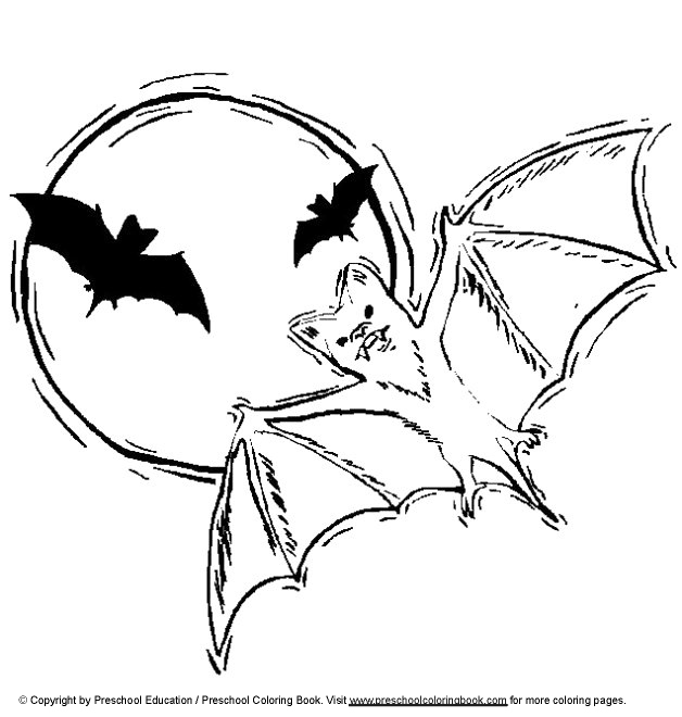 Vampire Bat Coloring Page To Print Out