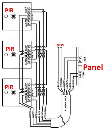 multiple pir wiring diagram