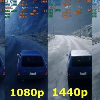 720p, 1080p, 1440p, 2K, 4K resolutions