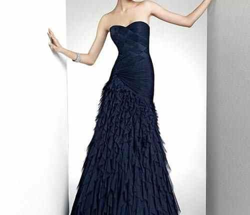 2015 Lacivert Elbise Modelleri