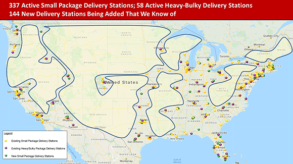 Amazon delivery stations