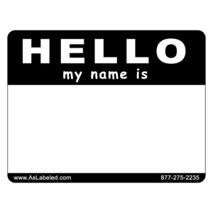 Hello Name Tag