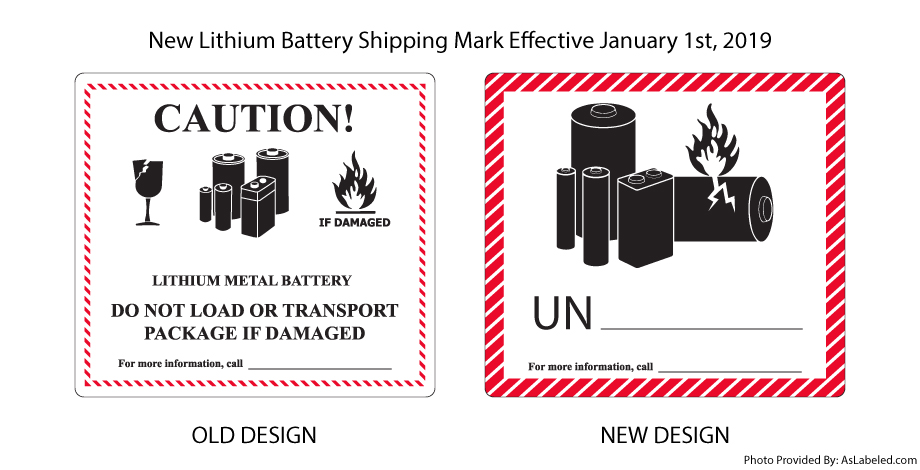 New Lithium Battery Shipping Mark January 2019