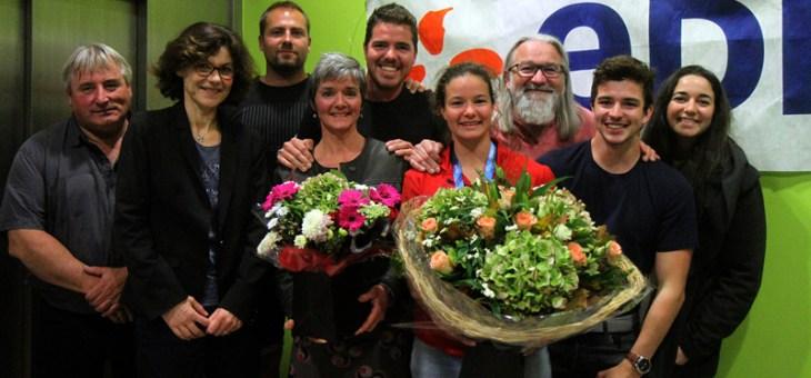 Clémence Leblanc fêtée lors de son retour à Saint-Laurent-Blangy