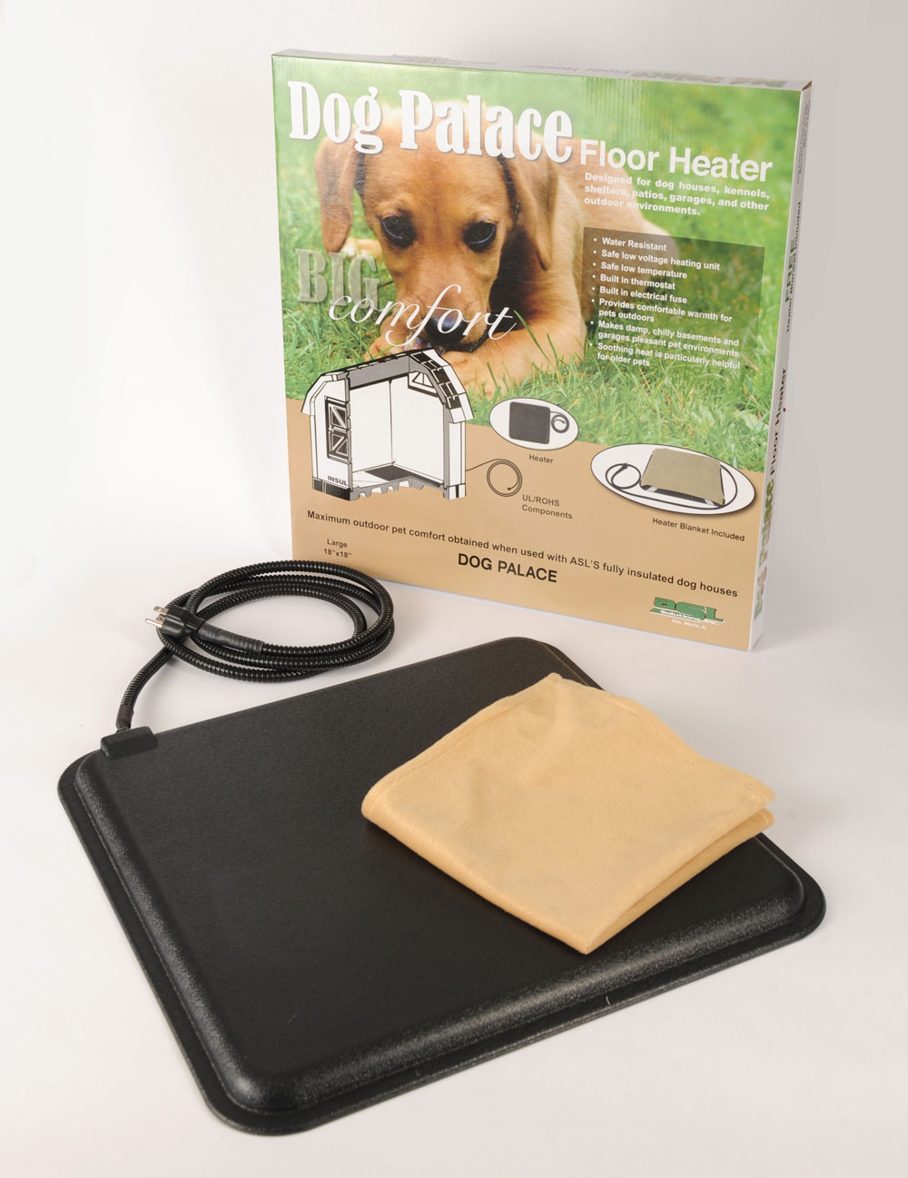 Doghouse Floor Mat Heaters  Insulated Doghouses by ASL