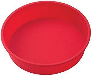 Silicone 9-Inch Round Cake Pan Baking Mold, BPA Free, Non-Stick European-Grade Silicone, 9.5 x 2.25-Inches