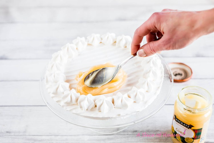 Spreading lemon curd | A Slice of Heaven