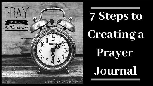 Example by Denise M. Colby of how her writing box expanded by creating a webpage about creating a prayer journal