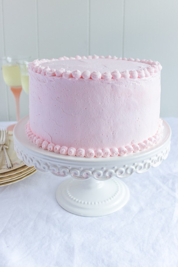 Pink Prosecco Cake